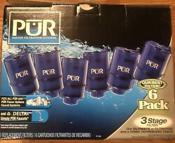 6 Pack Pur Faucet Refill 3 Stage Water Filters Fits All Pur Faucet Systems