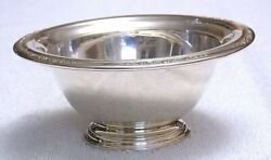 6 X 2 4/5 Inch Antique Solid International Sterling Silver Courtship Bowl As92