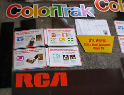 Nos '70s Rca Colortrak Color Tv Large Stand-up Store Display Vintage Television