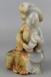 A Rare And Finely Carved Jade Figure Of Tang Dynasty Style Lady --- Large