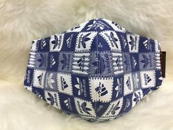 New Blue Adidas Quality Face Mask Easy To Breath And Washable $5.30