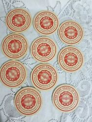 10 Vintage Round Beer Coasters Simon Pure Old Abbey Ale