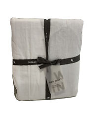 West Elm 400 Thread Count Organic Sateen Bed Skirt Twin Platinum New Package Di