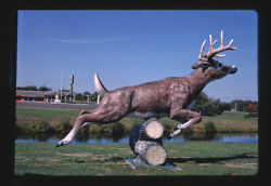 Photo Of Black River Falls Oasis Stag Statue Black River Falls Wisconsin 1988