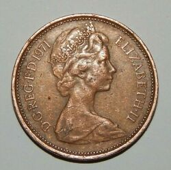 1971 New Pence 2 Coin Bronze, Collector Coin Great Condition Very Rare