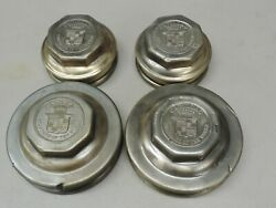 Vintage Teens - 1920and039s Cadillac Hub Cap - Set Of 4 - 1916 1917 1918 1919 1920 Gm