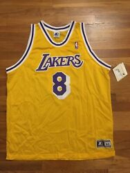 Authentic 1997-98 Los Angeles Lakers Kobe Bryant Home Yellow Gold Jersey Size 54