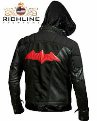 New Batman Arkham Knight Game Red Hood Leather Jacket- Game Costume