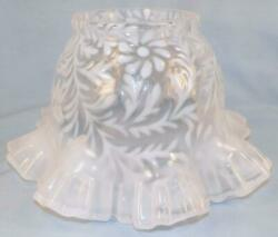 Fenton Opalescent Daisy And Fern Lamp Shade In Ob 4in Fitter Double Crimped