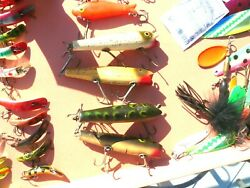 Lot Of 4 Creek Chub Vintage Darter All Wood Excellent Condition Cool Colors