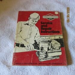 Briggs And Stratton Service Repair Manual 4-cycle L Head Engine Bands