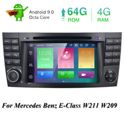 For Mercedes-benz E-class W211 W219 Android 10.0 7 Car 8-core Gps Radio Dvd Nav