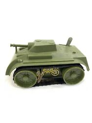 Vintage 60s Mar Toys Tin / Plastic Toy Army Wind Up Tank Toy Made In Usa