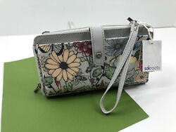 Sakroots Artist Smartphone Wristlet Crossbody Wallet In Bloom Blush Phone NWT $39.95
