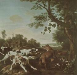 High Quality Oil Painting Handpainted On Canvas The Fox Hunt