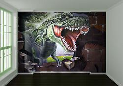 3d Realistic Dinosaur Zhua4107 Wallpaper Wall Murals Removable Self-adhesive Amy