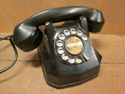 Automatic Electric Desk Phone Type Ae 40 Monophone, Excellent, Bakelite Body
