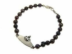 Royal Order Id All Pearl Bure Rubberd To Sv925 Silver Black Black Crown