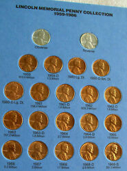 Lincoln Memorial Penny Complete Set W/81 Coins 11943 And 11943s Steel