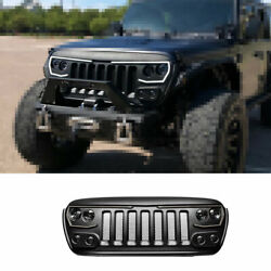 Fit For Jeep Wrangler Jl 2018-2020 Black Abs Front Central Grille Grill Trim 1x
