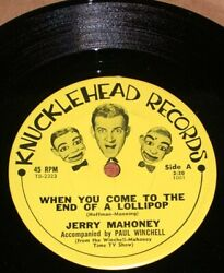 Vintage 1960s Paul Winchell Jerry Mahoney 45 Rpm Record Mint 2 Old Store Stock