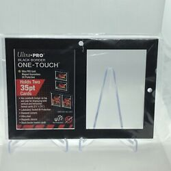 Ultra Pro 2 Card 35pt Black Border UV One Touch Ultra Clear Display Holder Frame