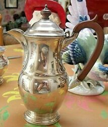 Garrard And Co Regent Plate 9 Coffee Pot Silver Plate Bakelite Handle And Knop