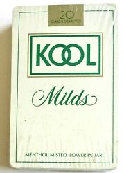 Brand New Vintage Kool Mild Menthal Cigarettes Playing Cards Plastic Coated Deck