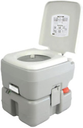 Outdoor Portable Toilet With Carry Bag Travel Level Indicator 3 Way Pistol Flush