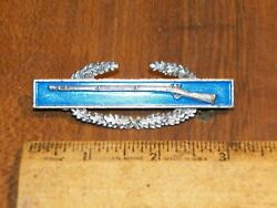 Vintage Sterling Silver Wwii Us Army Combat Infantry Pin Badge Long Gun Rifle