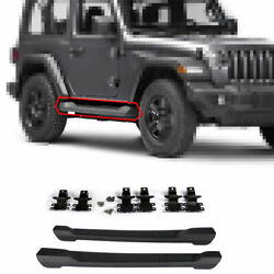 Fit For Jeep Wrangler Jl 2dr 2018-2020 Steel Outer Side Pedal Step Board 2pcs