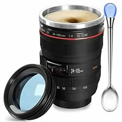 Camera Lens Coffee Mug Fun Photo Mugs Stainless Steel Thermos Great Gifts For -