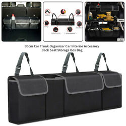 Black Car Trunk Cargo Storage Bag Organizer Foldable Multi Purpose Holder Box