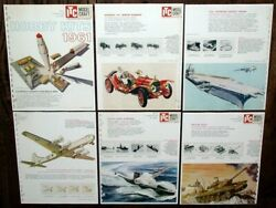 Vintage 1961 Ideal Itc Model Craft Hobby Kits Dealer Catalog Pages Cars Boats +