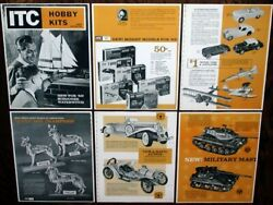 Vintage 1963 Ideal Itc Model Craft Hobby Kits Dealer Catalog Pages Cars Boats +