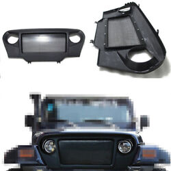 For Jeep Wrangler Tj 1997-2006 Abs Black Front Avengers Grille Grill Mesh Trim