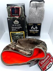 Realtree Boot Sock Plus Liner Size L. Cushioned Wool Blend Thermal Sock Bundle