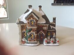 Christmas Scenery Snow Covered House For Your Tree And Lionel Train Layouts