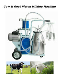 New Piston Milker Electric Milking Machine For Farm Cows Coats With 25l Bucket