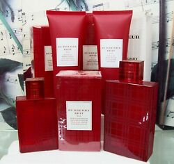 Brit Red Special Edition Edp Body Lotion Or Shower Gel. You Select.