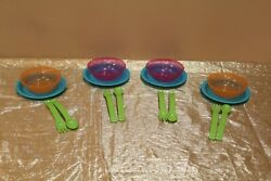 New Vintage And Unique Tupperware Set Of 4 Itand039s Called A Picnic For Children