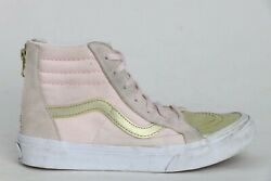Vans Off The Wall Girl Kids High Top Pink Sneaker Shoes Size 3 US