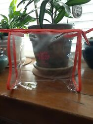 Kate Spade LIVE COLOR FULLY clear cosmetic bag 9.5quot;x8.5quot;x4quot; $10.00