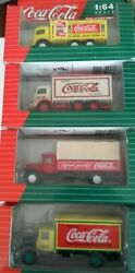 Toy Coca Cola Lot Vintage Vehicles In Original Boxes 164 Scale-delivery Trucks