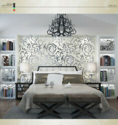 3D Victorian Damask Embossed Wallpaper Roll Home Decor Living Room Bedroom Wall