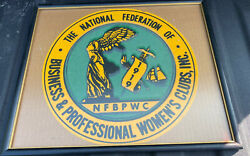 1919 Framed Banner National Federation Business And Professional Womenand039s Club