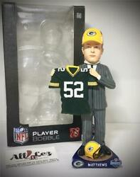 Green Bay Packers Clay Mattews Draft Day Green Jersey Foco Bobblehead And039d/100