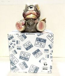 Collectible Blue Sky Ceramic Bank Goat With Artist Pallet Great Gift New In Box