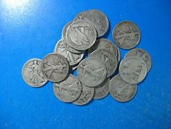 Walking Half 1917 To 1929 P-d-s Mints About 40 Mint Marked Roll Of 20 Coins