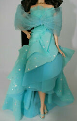OoP CE Barbie Blue Silver Evening Dress Gown Shoes Heels Shawl Model Muse Outfit $33.24